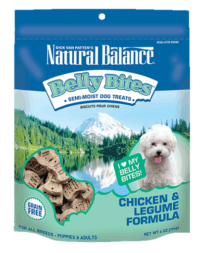 Picture of Natural Balance Belly Bites Chicken and Legume Semi-Moist Treats - 6 oz.