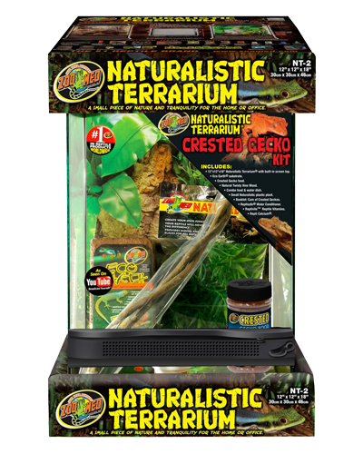 "Picture of ZooMed Naturalistic Terrarium Crested Gecko Kit - 12"" x 12"" x 18"""