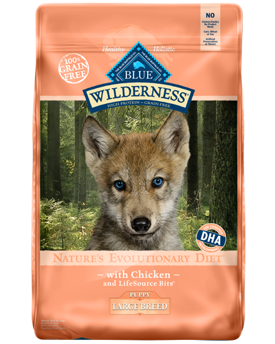 Picture of Blue Buffalo Wilderness Grain Free Chicken for Large Breed Puppies - 24 lb.