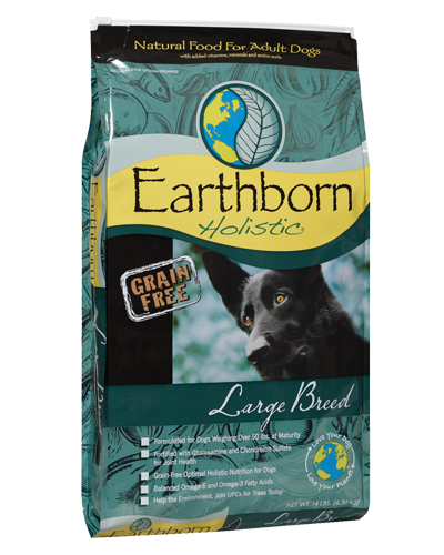 Picture of Earthborn Holistic Grain Free Large Breed Formula with Chicken Meal - 14 lb.
