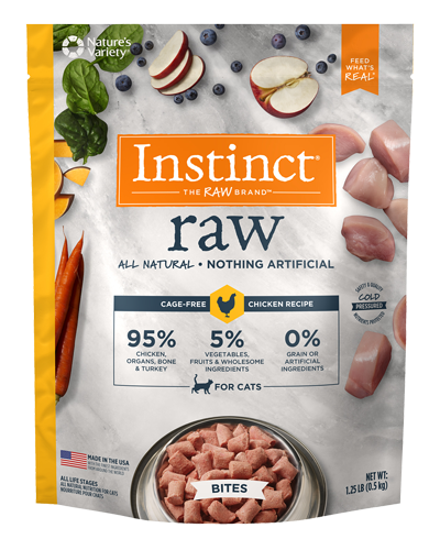 Picture of Nature's Variety Instinct Raw Frozen Bites Cage-Free Chicken - 1.25 lbs.