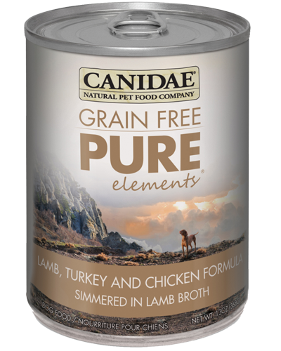 Picture of Canidae Grain Free PURE Elements Lamb, Turkey, and Chicken Formula Simmered in Lamb Broth - 13 oz.