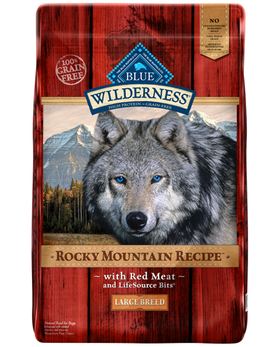 Picture of Blue Buffalo Wilderness Rocky Mountain Recipe Grain Free Red Meat for Large Breeds - 22 lb.