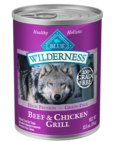 Picture of Blue Buffalo Wilderness Grain Free Beef and Chicken Grill - 12.5 oz.