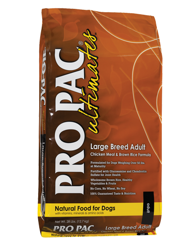 Picture of Pro Pac Ultimates Large Breed Adult Chicken Meal & Brown Rice Formula - 28 lbs.