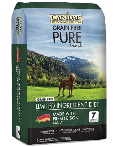 Picture of Canidae Grain Free PURE Land Fresh Bison Formula - 24 lb.