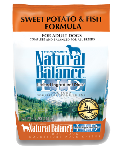 Picture of Natural Balance Limited Ingredient Diet Grain Free Sweet Potato and Fish Formula - 4.5 lb.