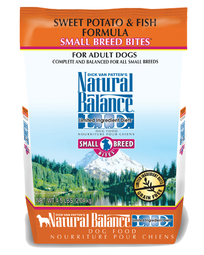 Picture of Natural Balance Limited Ingredient Diet Grain Free Sweet Potato and Fish Small Breed Bites Formula - 4.5 lb.