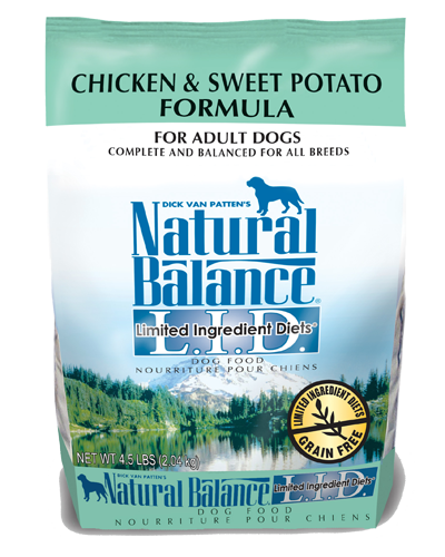 Picture of Natural Balance Limited Ingredient Diet Grain Free Chicken and Sweet Potato Formula - 4.5 lb.