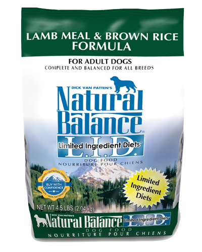 Picture of Natural Balance Limited Ingredient Diet Lamb Meal and Brown Rice Formula - 4.5 lb.