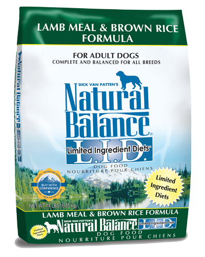 Picture of Natural Balance Limited Ingredient Diet Lamb Meal and Brown Rice Formula - 14 lb.