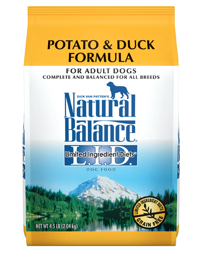 Picture of Natural Balance Limited Ingredient Diet Grain Free Potato and Duck Formula - 4.5 lb.