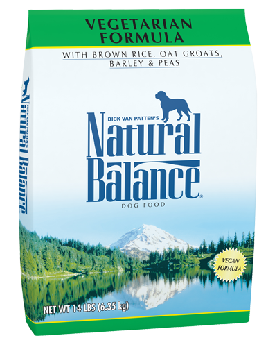 Picture of Natural Balance Vegetarian Formula with Brown Rice, Oat Groats, Barley, and Peas - 14 lb.