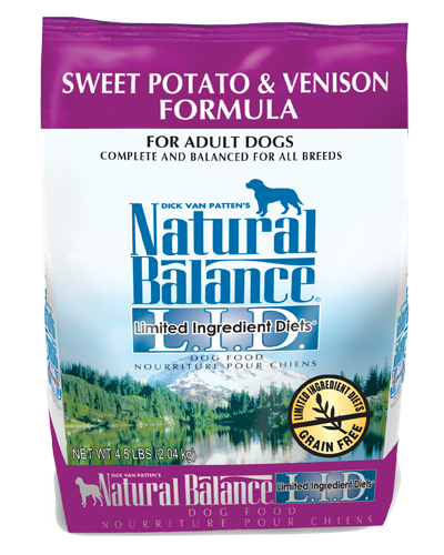 Picture of Natural Balance Limited Ingredient Diet Grain Free Sweet Potato and Venison Formula - 4.5 lb.