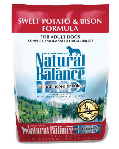 Picture of Natural Balance Limited Ingredient Diet Grain Free Sweet Potato and Bison Formula - 4.5 lb.