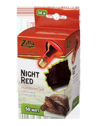 Picture of Zilla Night Red Spot Incandescent Spot Bulb - 50 Watt