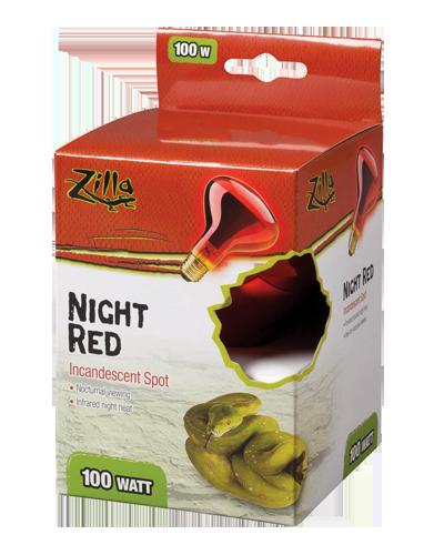 Picture of Zilla Night Red Spot Incandescent Spot Bulb - 100 Watt