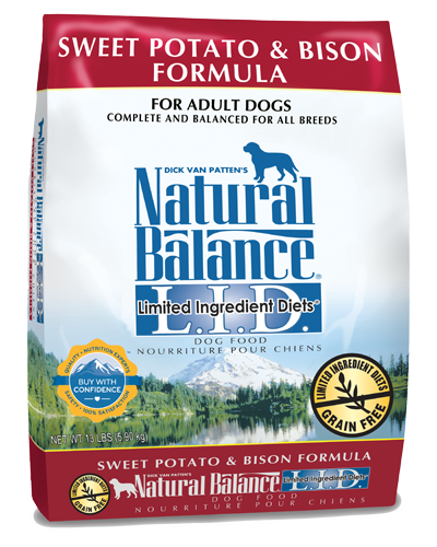 Picture of Natural Balance Limited Ingredient Diet Grain Free Sweet Potato and Bison Formula - 13 lb.