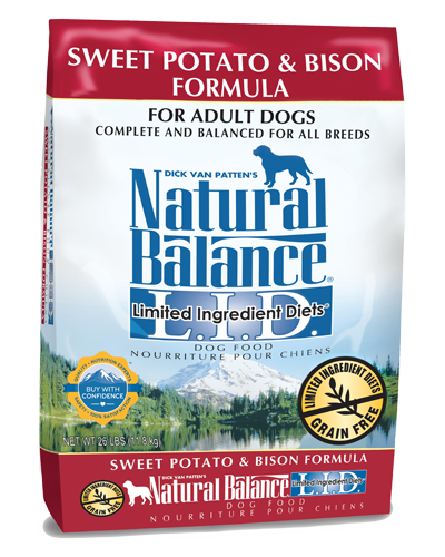 Picture of Natural Balance Limited Ingredient Diet Grain Free Sweet Potato and Bison Formula - 26 lb.