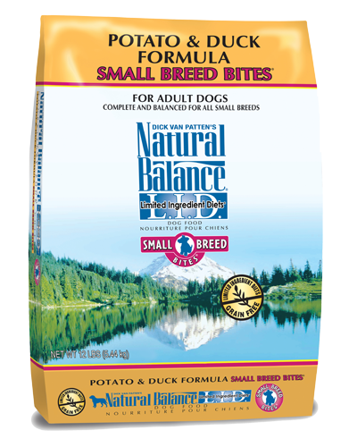 Picture of Natural Balance Limited Ingredient Diet Grain Free Potato and Duck Small Breed Bites Formula - 12 lb.