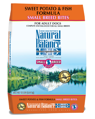 Picture of Natural Balance Limited Ingredient Diet Grain Free Sweet Potato and Fish Small Breed Bites Formula - 12 lb.