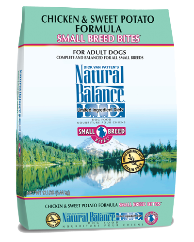 Picture of Natural Balance Limited Ingredient Diet Grain Free Chicken and Sweet Potato Small Breed Bites Formula - 12 lb.