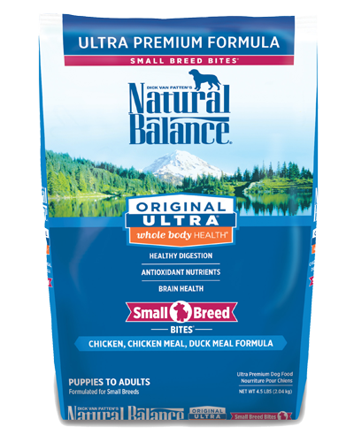 Picture of Natural Balance Original Ultra Whole Body Health Chicken, Chicken Meal, and Duck Meal Small Breed Bites Formula - 5 lb.