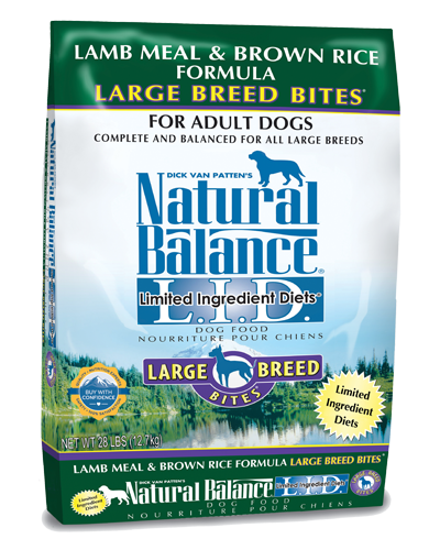 Picture of Natural Balance Limited Ingredient Diet Lamb Meal and Brown Rice Large Breed Bites Formula - 28 lb.