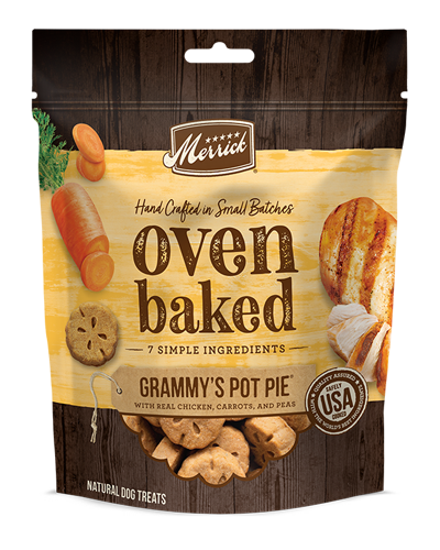 Picture of Merrick Kitchen Bites Grain Free Oven-Baked Grammy's Pot Pie with Chicken, Potatoes, Peas, and Carrots - 9 oz.