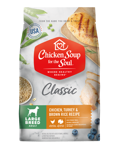 Picture of Chicken Soup for the Soul Adult Large Breed Dry Dog Formula with Chicken and Turkey - 30 lb.