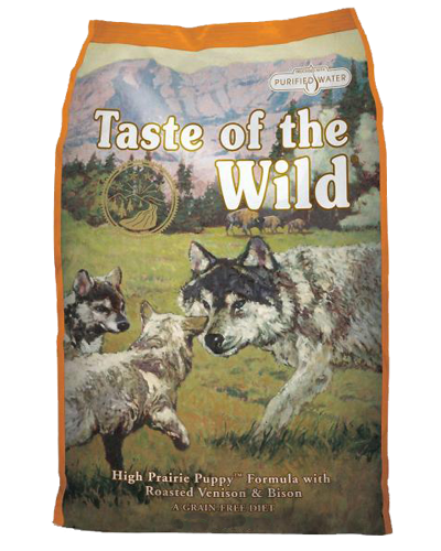 Picture of Taste Of The Wild Grain Free Puppy High Prairie Recipe with Roasted Bison & Roasted Venison - 5 lbs.