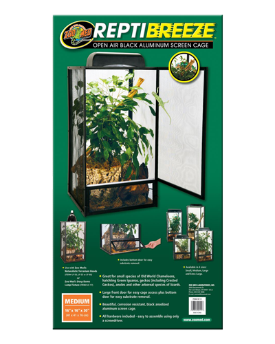 """Picture of ZooMed ReptiBreeze Open Air Cage Medium - 16"""" x 16"""" x 30"""""""