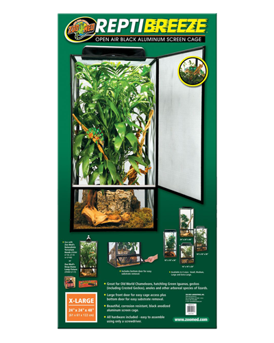 "Picture of ZooMed ReptiBreeze Open Air Cage Extra Large - 24"" x 24"" x 48"""