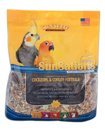 Picture of Sunseed SunSations Natural Cockatiel & Conure Formula - 4 lb.