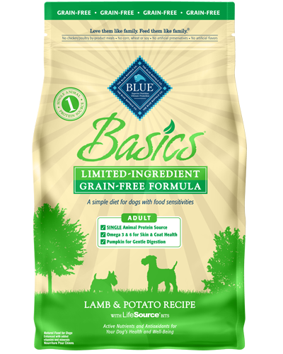 Picture of Blue Buffalo Basics Grain Free Lamb and Potato Recipe - 4 lb.