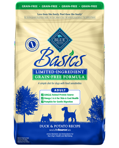 Picture of Blue Buffalo Basics Grain Free Duck and Potato Recipe - 22 lb.