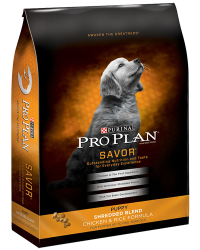 Picture of Purina Pro Plan Savor Puppy Shredded Blend Chicken & Rice - 6 lbs.