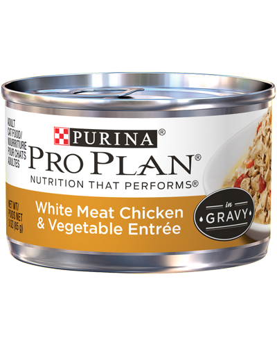 Picture of Purina Pro Plan Savor Adult White Meat Chicken & Vegetable Entrée in Gravy - 3 oz.
