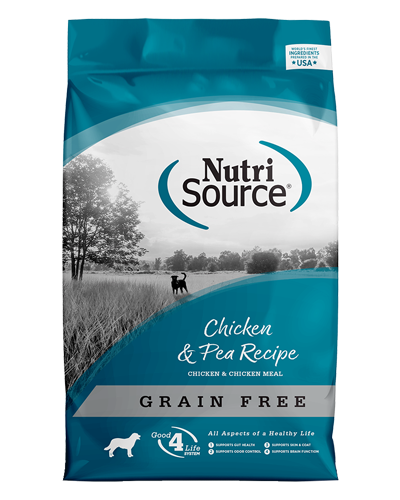 Picture of Nutrisource Grain Free Chicken & Pea Formula - 30 lbs.