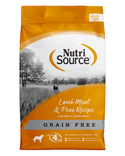 Picture of Nutrisource Grain Free Lamb Meal & Peas Formula - 15 lbs.