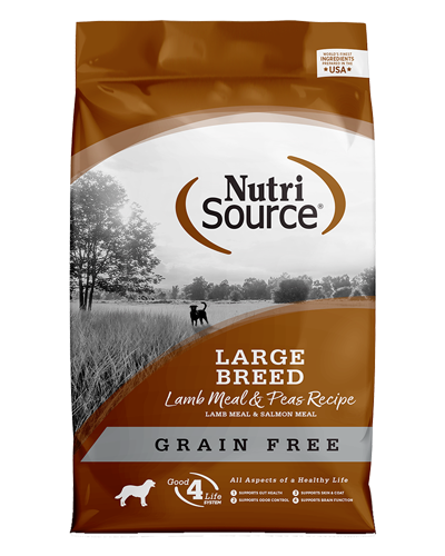 Picture of Nutrisource Grain Free Large Breed Lamb Meal & Peas Formula - 30 lbs.