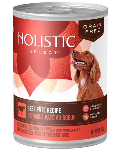 Picture of Holistic Select Grain Free Beef Pate Recipe - 13 oz.