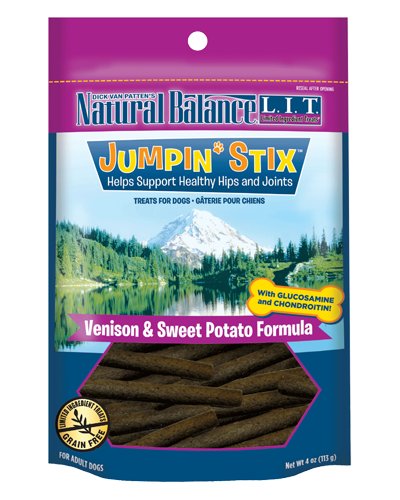 Picture of Natural Balance Limited Ingredient Treats Grain Free Jumpin' Stix Venison and Sweet Potato Formula - 4 oz.