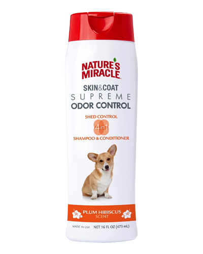 Picture of Nature's Miracle Supreme 4N1 Odor & Shed Control Shampoo - 16 oz