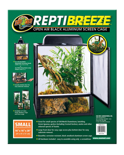 "Picture of ZooMed ReptiBreeze Open Air Cage Small - 16"" x 16"" x 20"""