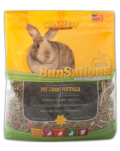 Picture of Sunseed SunSations Natural Pet Rabbit Formula - 3.5 lb.