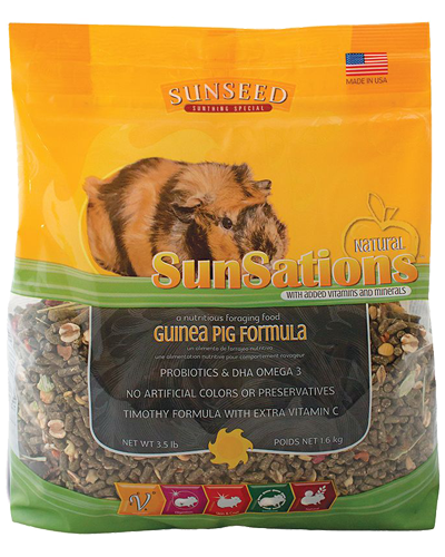 Picture of Sunseed SunSations Natural Guinea Pig Formula - 3.5 lb.