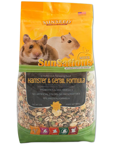 Picture of Sunseed SunSations Natural Hamster & Gerbil Formula - 2 lb.
