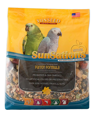 Picture of Sunseed SunSations Natural Parrot Formula - 3.5 lb.