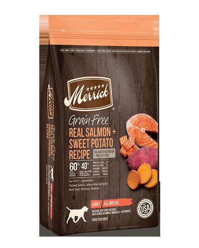 Picture of Merrick Grain Free Real Salmon + Sweet Potato Recipe - 4 lbs.